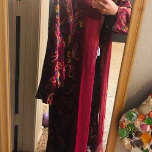 Statement Piece - Maroon Paisley Robe Kimono
